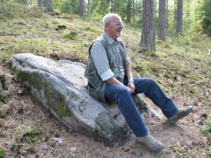 Zuerst vermutete Richard Wächter in diesem Felsen den St. Otto-Stuhl. Foto: Richard Reinl